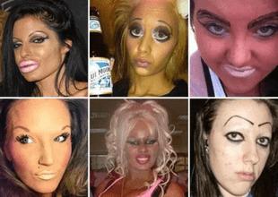 10 mujeres que fallaron en el maquillaje y quedaron en ridículo; la 5 luce como asiática.