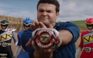 Austin St. John como el Power Ranger Rojo