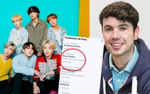 BTS: Bruno Pinasco es tendencia  debido a este deseo de las fans del Kpop