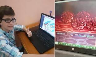 Niño desarrolla un videojuego sobre la posible vacuna contra la COVID-19