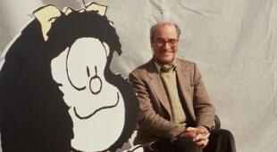 Quino y Mafalda. - Fuente: Getty Images.