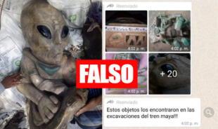 Fake News: Es falso que encontraron esculturas extraterrestres en México