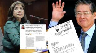 Diversos usuarios de las redes sociales compararon la renuncia de Martha Chávez a Fuerza Popular con la renuncia por fax de Alberto Fujimori./Fuente: La República.