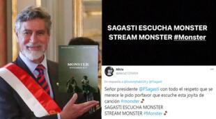 'Sagasti escucha Monster', la nueva tendencia en Twitter.