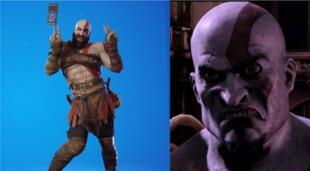 Algunos jugadores se han indignado ante los bailes y poses que puede hacer la skin de Kratos en Fortnite, con justificaciones cada vez más ridículas y ofensivas./Fuente: Composición.