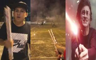 Influencer quemó a sus amigos usando pólvora al querer imitar a Harry Potter, la Policía lo busca