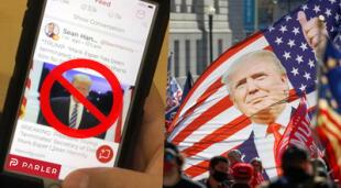 Parler: La red social de los partidarios de Trump que fue prohibida.
