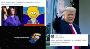 Los mejores memes tras la salida de Donald Trump de la Casa Blanca.
