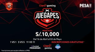 El Claro Gaming X JUEGAPES contará con la presencia de grandes equipos peruanos como Alianza Lima, Unversitarios de Deportes, Sporting Cristal, entre otros./Fuente: Claro Gaming.