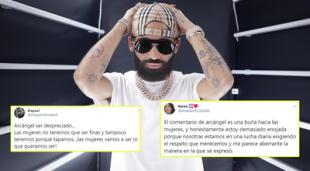 Arcángel recibió miles de críticas por comentarios machistas.