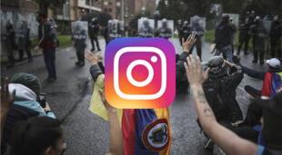 Instagram se ha visto envuelta en polémica por la supuesta censura que realiza contra stories de las protestas en Colombia./Fuente: El País (Iván Valencia).