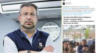 Jefe de la ONPE habría recibido insultos junto a su familia en el Club Regatas.