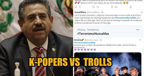 """Fans del K-pop neutralizan y arruinan el hashtag que intentó """"terruquear"""" las marchas contra Manuel Merino"""