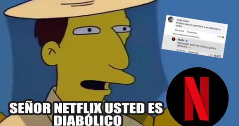"""Netflix trolea a usuario """"intelectual"""" que dijo que prefiere leer libros a su series"""
