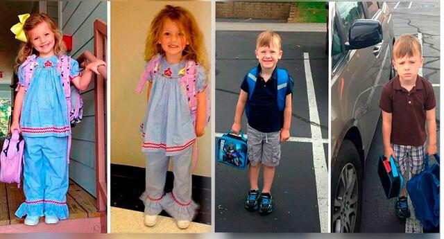 10 divertidas fotos tomadas antes y después del primer día de clases que todos entenderemos