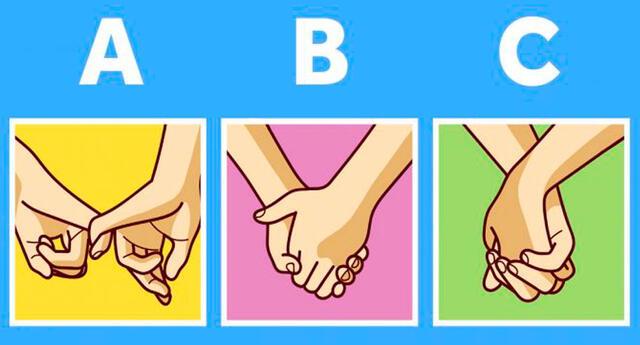¿Cómo se toman de la mano tú y tu pareja?