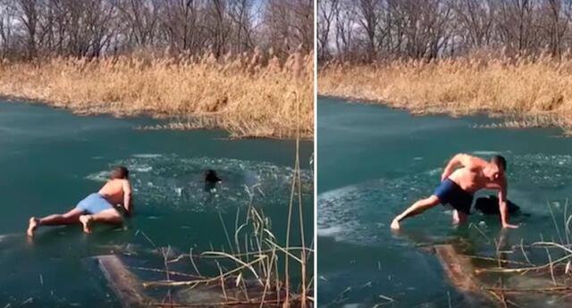Arriesgó su vida para salvar a un perro, pero el animal tuvo una ingrata respuesta