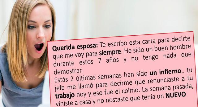 Viral: ¿Cómo responder ante un divorcio? Mujer escribe la mejor carta del mundo