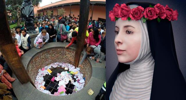 ¿Dónde terminan las cartas que caen al pozo de los deseos de Santa Rosa de Lima?