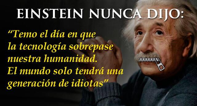 """""""Generación de idiotas"""", una temida profecía de Einstein que él nunca dijo"""