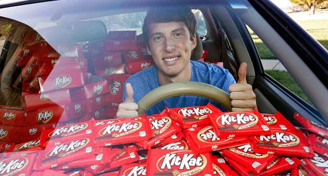 Ladrón robó su chocolate Kit Kat y compañía lo recompensó así