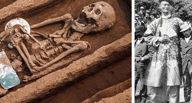 Varios restos fueron encontrados y medían mucho más que el promedio actual chino.