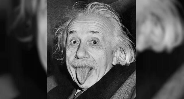 ¿Cuál es la explicación de la famosa foto de Albert Einstein?