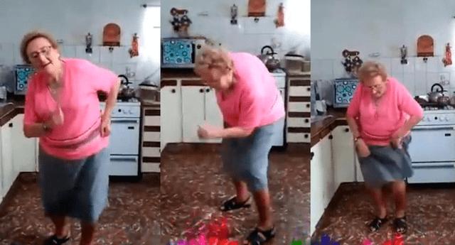 La abuelita 'Chispita' y sus mejores pasos.