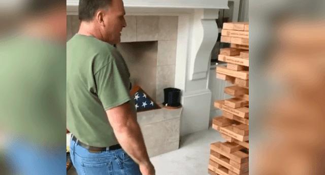 El sujeto realizó una increíble maniobra y logró salir victorioso de la difícil jugada