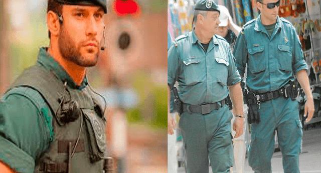 La imagen difundida en en el Twitter de la Guardia Civil española se ha viralizado en las redes sociales