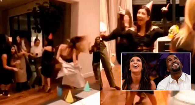Kourtney fue la cumpleañera, pero Kim Kardashian, el alma de la fiesta.