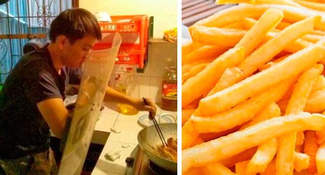 La forma más sencilla de comer papas fritas.