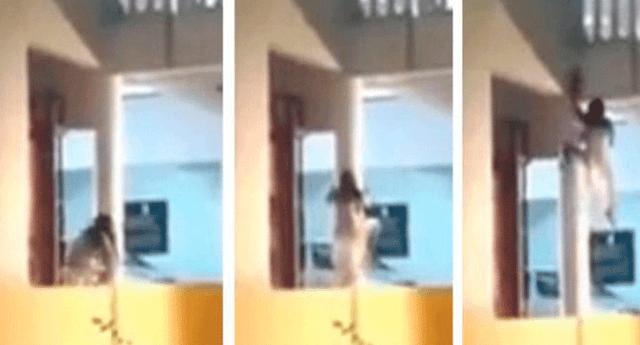 Algunos internautas señalan que se trata de una mujer poseída, paciente de un hospital en México