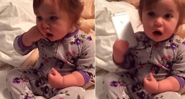 Aún se desconoce qué es lo repite la bebé.