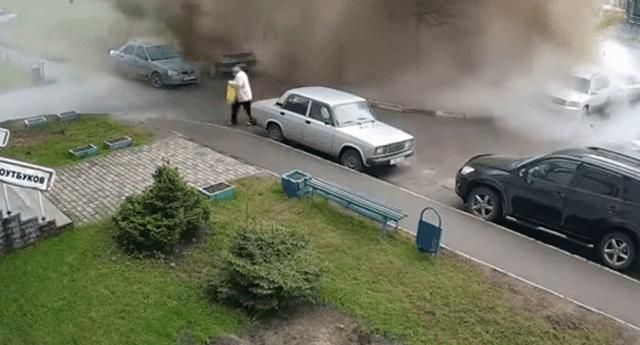 A pesar del terrible accidente, la anciana salió ileso.