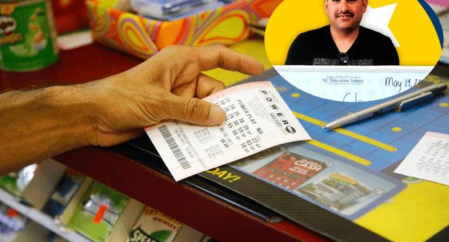 Su historia fue compartida por la empresa de lotería.