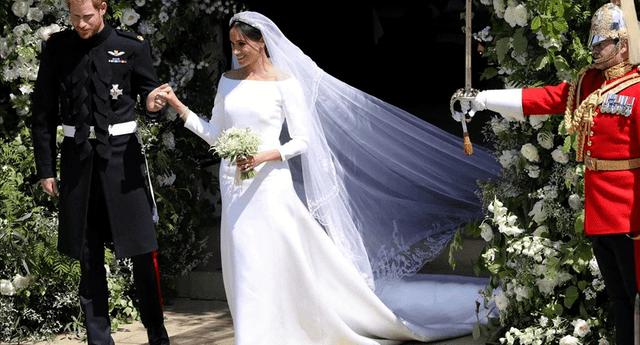 El vestido de la duquesa fue diseñada por la británica Clare Waight Keller.