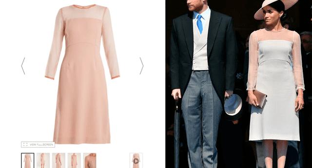El vestido de color rosa pálido fue tendencia en las redes sociales.