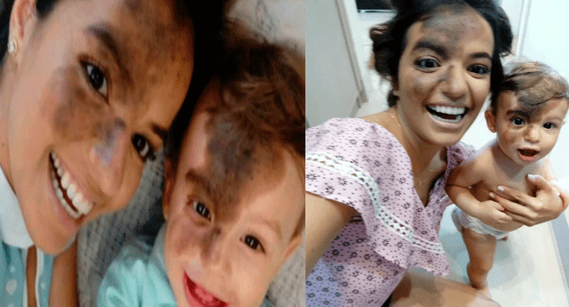 Carolin Giraldelli demostró el amor incondicional que siente por su primogénito
