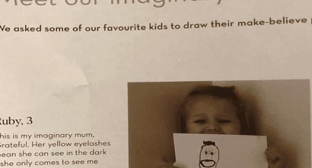 """Una niña de tres años dibujó a """"su amigo imaginario"""" y el resultado aterró a miles de internautas"""