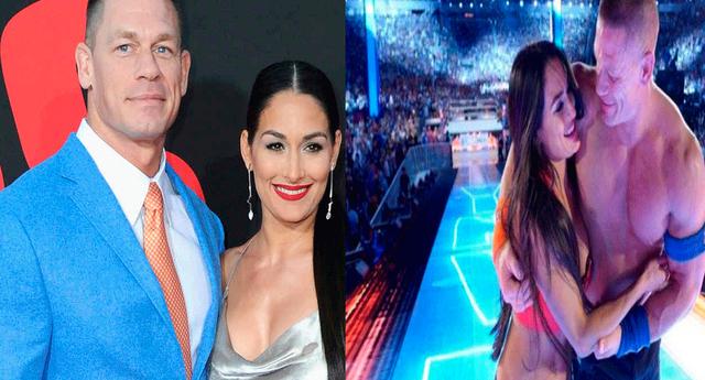 John Cena y Nikki Bella fue captada saliendo de un centro comercial