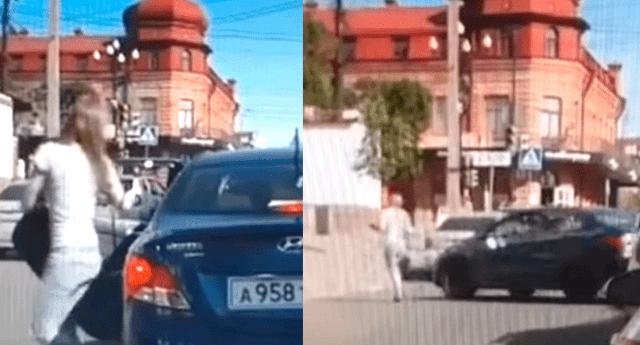 Un hombre atropelló a sus esposa porque esta le pidió el divorcio