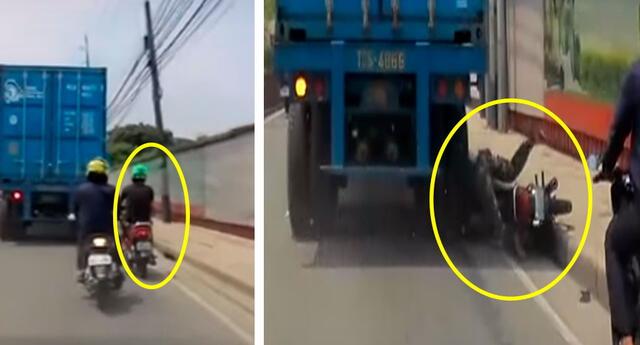 Las impactantes imágenes muestran las consecuencias de las maniobras arriesgadas.