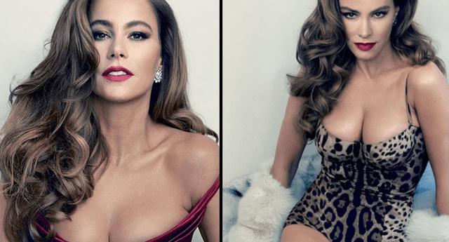 Sofía Vergara derrochó sensualidad.