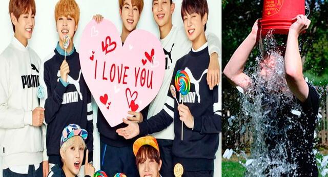 El 'ice bucket challenge' volvió y los chicos de BTS se sumaron a la noble causa.