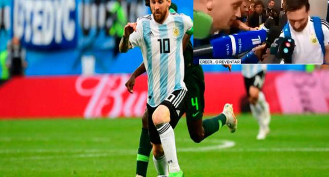 Lionel Messi mostró el amuleto que usó durante el partido de Argentina vs Nigeria