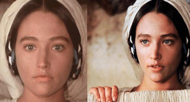 A sus 16 años, Olivia Hussey interpretó a María en la película Jesús de Nazareth