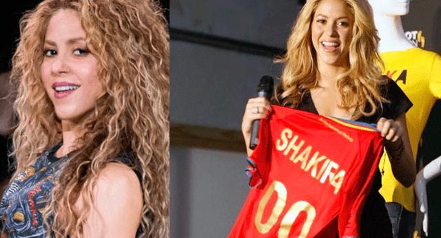 Shakira alentó, por primera vez, a la selección de España, pero muchos usuarios la criticaron