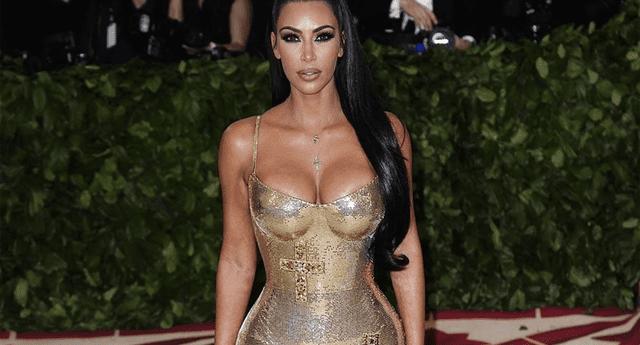 Kim Kardashian elevó la temperatura en Instagram.