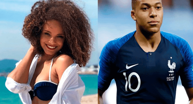 Mbappé y Alicia Aylies se conocieron en estadio del Paris Saint-Germain, en el partido con Les Herbiers por la Copa de Francia.